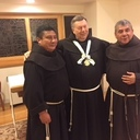 Minister Provincial Wearing Award (L to R) Friars Jesus, Robert, and German
